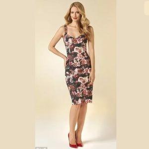 Zara floral rose printed bustier tube dress XS